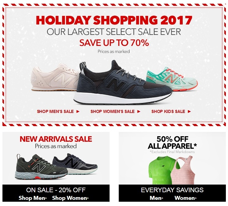 Joes New Balance Outlet Cyber Monday Ad