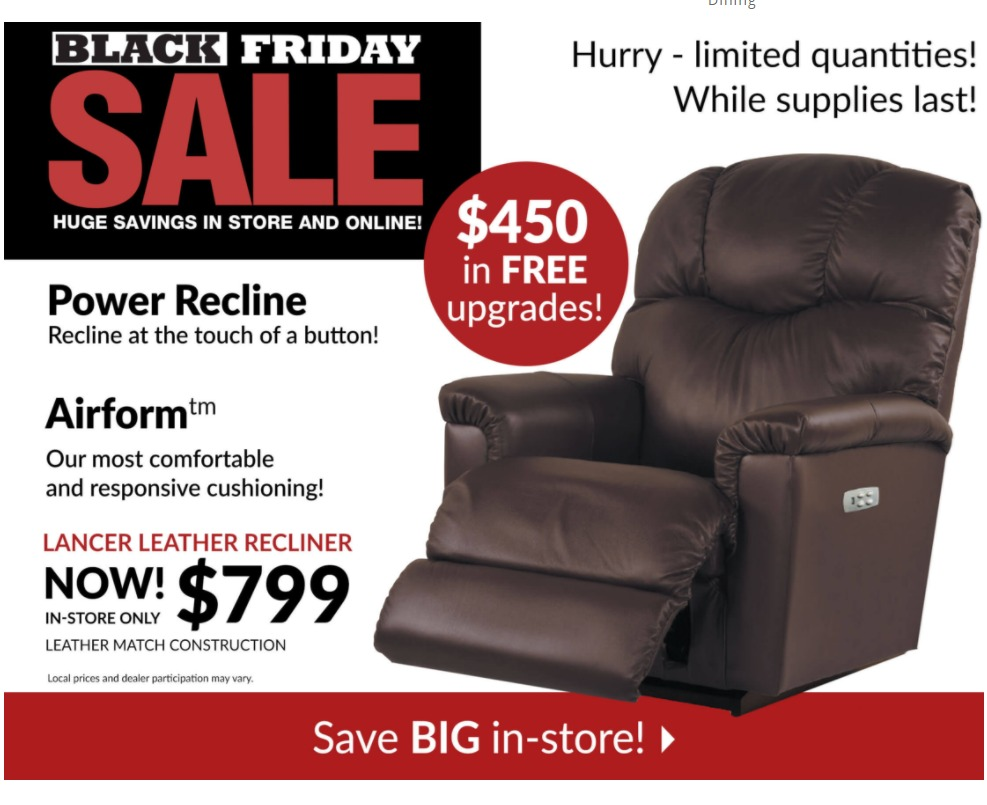 Lazboy Black Friday page 1
