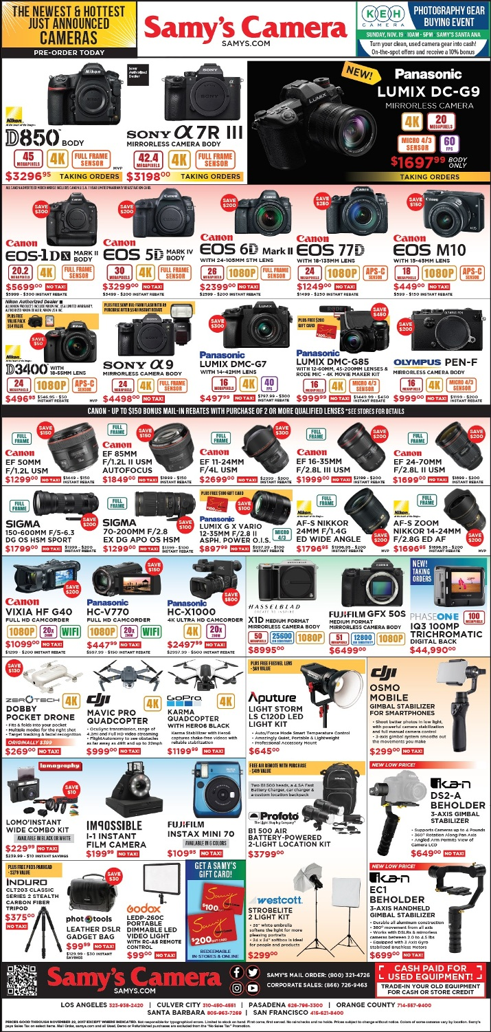 Samys Camera Black Friday page 1